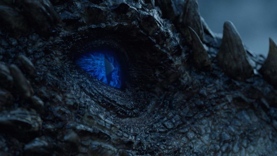 Viserion is resurrected by the Night King