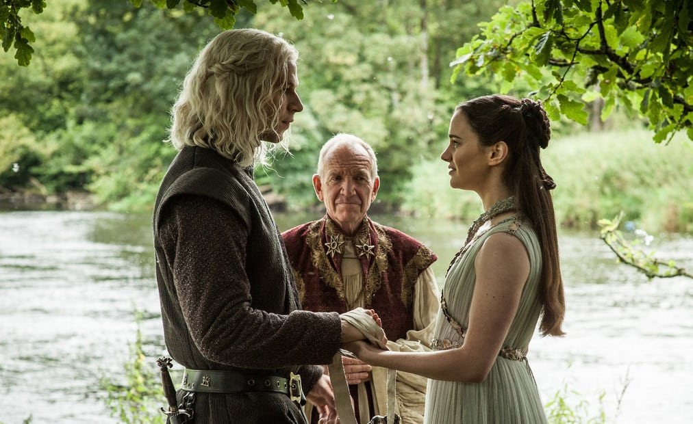 Rhaegar Targaryen and Lyanna Stark wed
