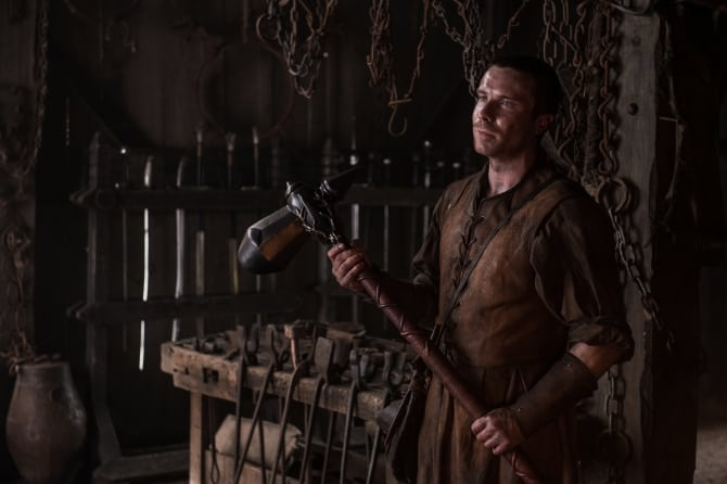 Gendry returns with his stag warhammer