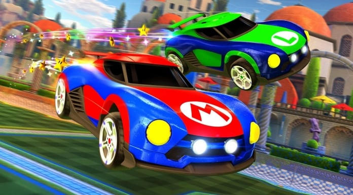 mario luigi rocket league cars