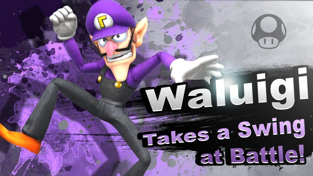 Smash Bros. Switch Waluigi