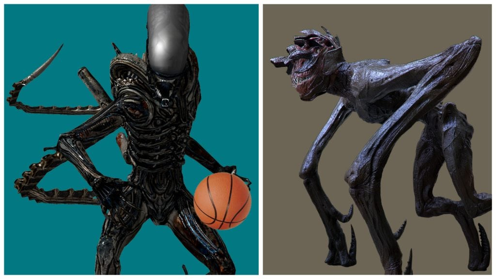 Xenomorph vs. Alien From A Quiet Place